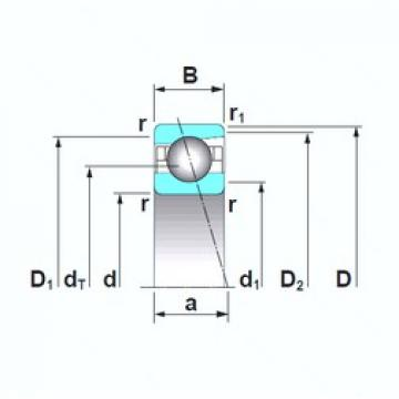 170 mm x 260 mm x 42 mm  NSK 7034CTRSU angular contact ball bearings