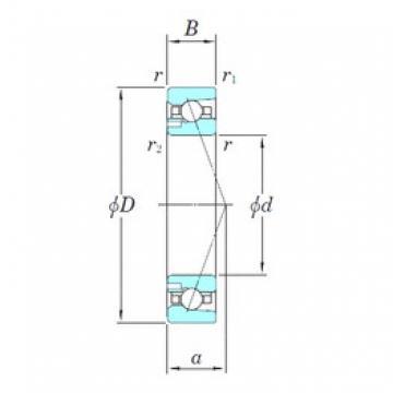 130 mm x 200 mm x 33 mm  KOYO 3NCHAD026CA angular contact ball bearings