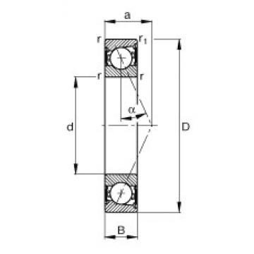 130 mm x 200 mm x 33 mm  FAG B7026-E-2RSD-T-P4S angular contact ball bearings