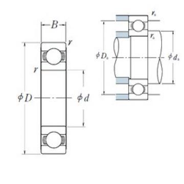 25 mm x 37 mm x 7 mm  NSK 6805 deep groove ball bearings