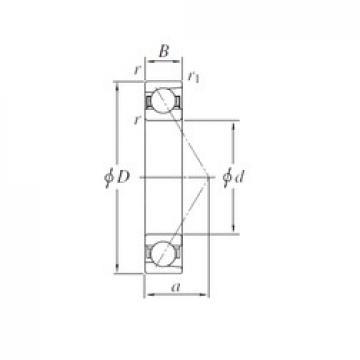 130 mm x 200 mm x 33 mm  KOYO 7026 angular contact ball bearings