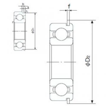 25 mm x 37 mm x 7 mm  NACHI 6805NR deep groove ball bearings