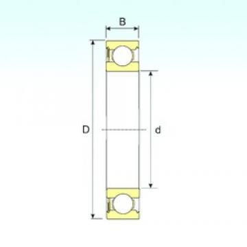 10 mm x 35 mm x 11 mm  ISB 6300-RS deep groove ball bearings