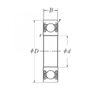 17 mm x 47 mm x 14 mm  NTN TMB303CCS24 deep groove ball bearings