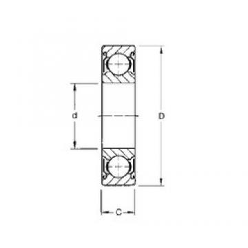 120 mm x 260 mm x 55 mm  CYSD 6324-ZZ deep groove ball bearings
