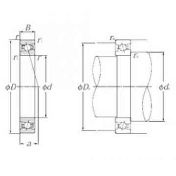 170 mm x 260 mm x 42 mm  NTN HSB034C angular contact ball bearings