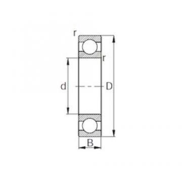 10 mm x 35 mm x 11 mm  KBC 6300 deep groove ball bearings