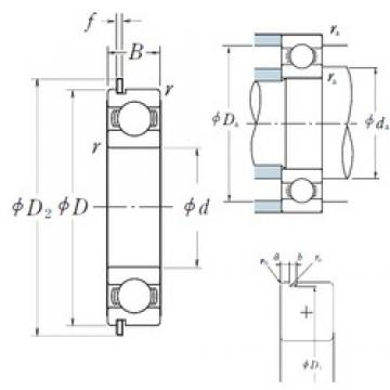 25 mm x 37 mm x 7 mm  NSK 6805NR deep groove ball bearings