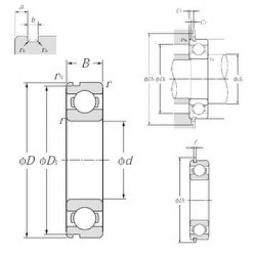 25 mm x 37 mm x 7 mm  NTN 6805NR deep groove ball bearings