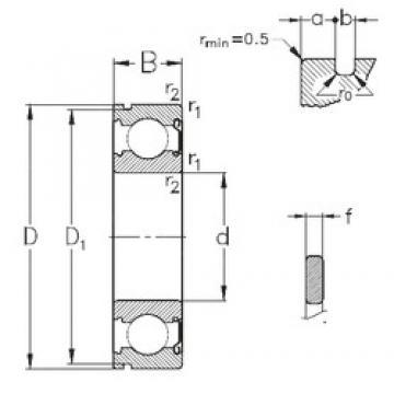 17 mm x 47 mm x 14 mm  NKE 6303-Z-NR deep groove ball bearings