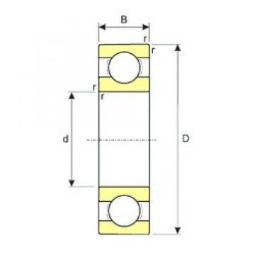 25 mm x 37 mm x 7 mm  ISB SS 61805 deep groove ball bearings