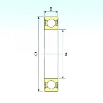 25 mm x 37 mm x 7 mm  ISB 61805-2RS deep groove ball bearings