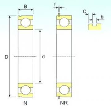 50 mm x 130 mm x 31 mm  ISB 6410 NR deep groove ball bearings