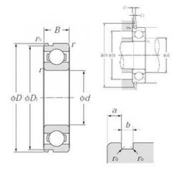 25 mm x 37 mm x 7 mm  NTN 6805N deep groove ball bearings