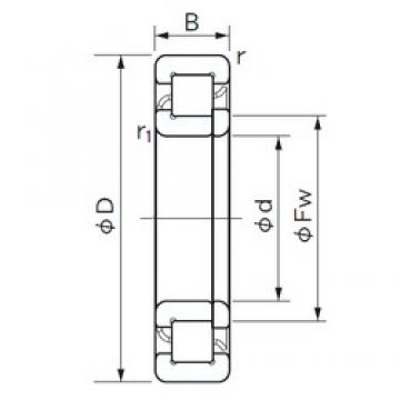 90 mm x 190 mm x 64 mm  NACHI NUP 2318 cylindrical roller bearings