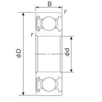 130 mm x 200 mm x 33 mm  CYSD 6026-RS deep groove ball bearings