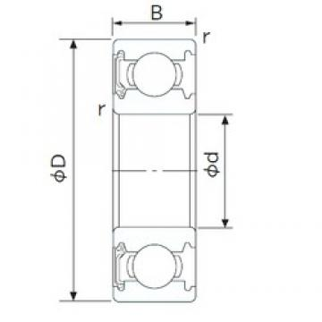 170 mm x 260 mm x 42 mm  CYSD 6034-RS deep groove ball bearings