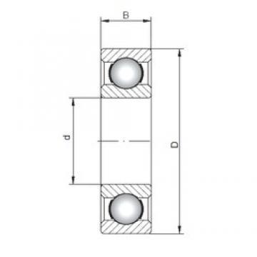 170 mm x 260 mm x 42 mm  Loyal 6034 deep groove ball bearings