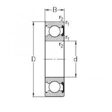 25 mm x 37 mm x 7 mm  NKE 61805-2RSR deep groove ball bearings