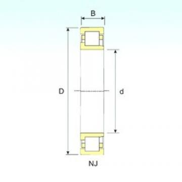 260 mm x 480 mm x 130 mm  ISB NJ 2252 cylindrical roller bearings