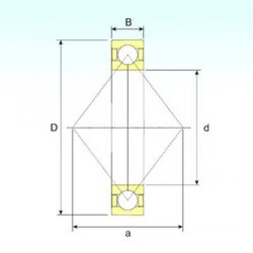 170 mm x 260 mm x 42 mm  ISB QJ 1034 angular contact ball bearings