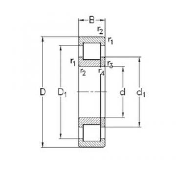 90 mm x 190 mm x 64 mm  NKE NUP2318-E-M6 cylindrical roller bearings