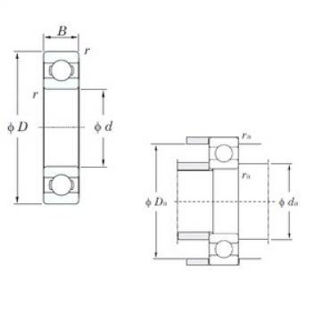 25 mm x 37 mm x 7 mm  KOYO 6805 deep groove ball bearings
