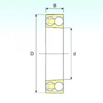 90 mm x 190 mm x 64 mm  ISB 2318 K self aligning ball bearings