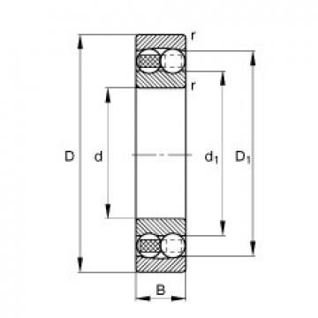 20 mm x 47 mm x 18 mm  FAG 2204-TVH self aligning ball bearings