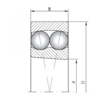 20 mm x 47 mm x 18 mm  ISO 2204K self aligning ball bearings
