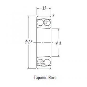 90 mm x 190 mm x 64 mm  NSK 2318 K self aligning ball bearings
