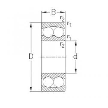 90 mm x 190 mm x 64 mm  NKE 2318 self aligning ball bearings