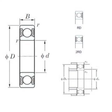 10 mm x 35 mm x 11 mm  KOYO 6300-2RD deep groove ball bearings
