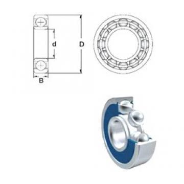 25 mm x 37 mm x 7 mm  ZEN SF61805-2RS deep groove ball bearings