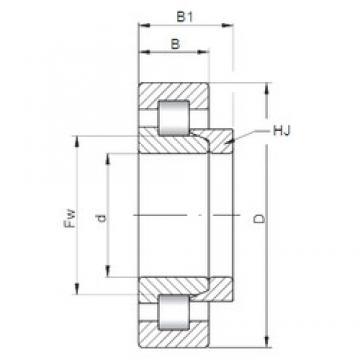 170 mm x 260 mm x 42 mm  Loyal NH1034 cylindrical roller bearings