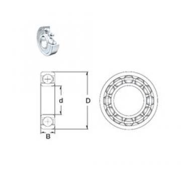 17 mm x 47 mm x 14 mm  ZEN 6303-2Z deep groove ball bearings