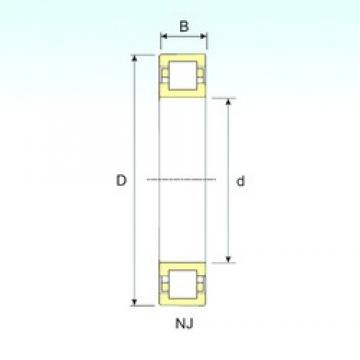 90 mm x 190 mm x 64 mm  ISB NUP 2318 cylindrical roller bearings