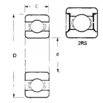 20 mm x 47 mm x 18 mm  FBJ 62204-2RS deep groove ball bearings