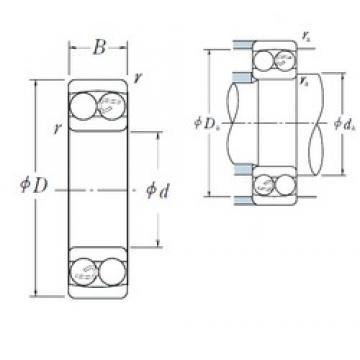 90 mm x 190 mm x 64 mm  NSK 2318 self aligning ball bearings