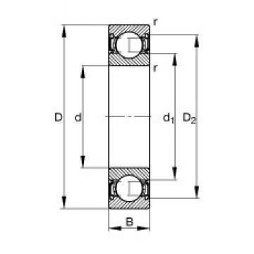 130 mm x 200 mm x 33 mm  FAG 6026-2RSR deep groove ball bearings