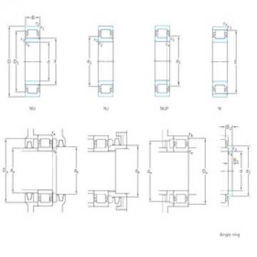 50 mm x 130 mm x 31 mm  SKF NJ410 cylindrical roller bearings