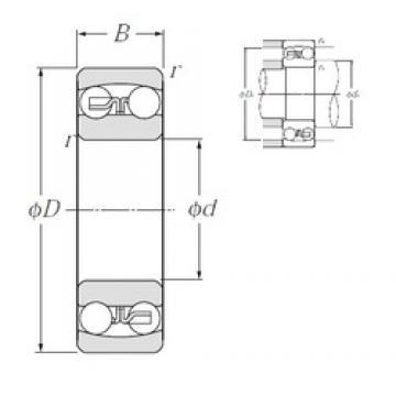 10 mm x 35 mm x 11 mm  NTN 1300S self aligning ball bearings