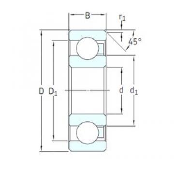 10 mm x 35 mm x 11 mm  SKF 6300/HR11TN deep groove ball bearings