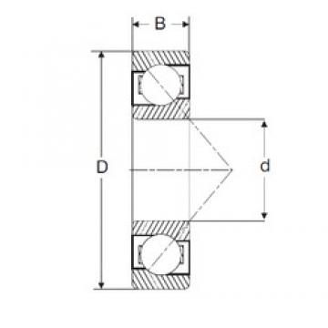 120 mm x 260 mm x 55 mm  SIGMA 7324-B angular contact ball bearings