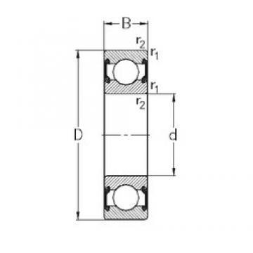 10 mm x 35 mm x 11 mm  NKE 6300-2RS2 deep groove ball bearings