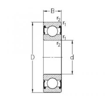 10 mm x 35 mm x 11 mm  NKE 6300-RS2 deep groove ball bearings