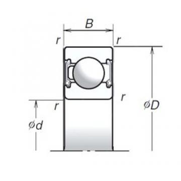 17 mm x 47 mm x 14 mm  NSK 6303T1XVV deep groove ball bearings
