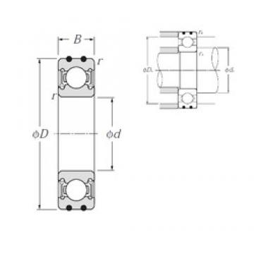 10 mm x 35 mm x 11 mm  NTN AC-6300LLU deep groove ball bearings
