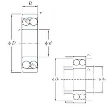 20 mm x 47 mm x 18 mm  KOYO 2204 self aligning ball bearings
