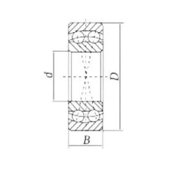 17 mm x 47 mm x 14 mm  Loyal 1303 self aligning ball bearings